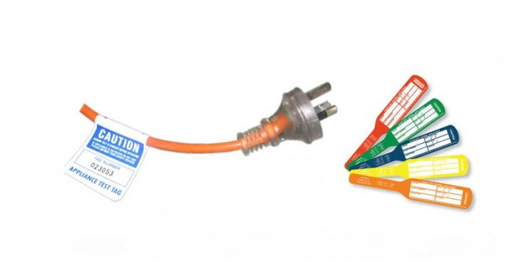 Different color tags for electrical test and tag